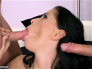 pecker starving hoe Larissa Dee is inhaling one pole at a time with delight