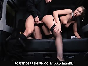 romped IN TRAFFIC - handsome hotty nailed deep in car pound