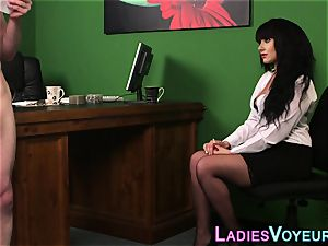 buxom office cfnm mistress