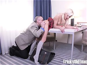 impressive porn! Russian student gets torn up by her teacher