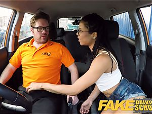 faux Driving school black yankee minx Kira Noir