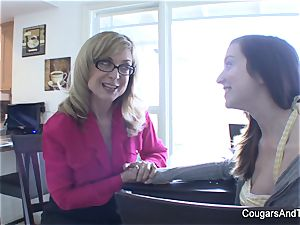 milf Nina gives her stepdaughter a going away introduce
