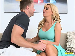 sizzling momma Sasha Sean picked up and porked deep in her mature clitoris coochie