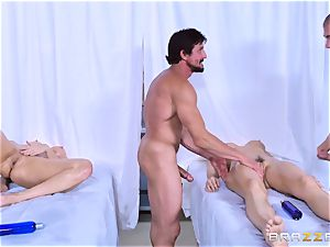 Monique Alexander and Chanel Preston love joint massage romping