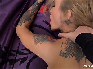 Sarah gets pounded pov style until she is facialed in jizz