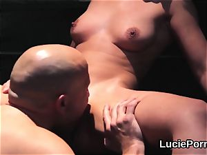 first-timer girl-on-girl nymphs get their delicious cooters gobbled and screwed