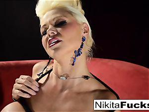 Russian mummy Nikita does restrain bondage solo with a hitachi