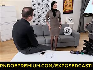 uncovered audition - torrid Czech babe jammed by stallion