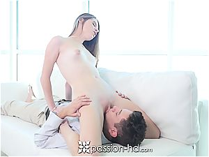 Passion-HD - puffy Nippled Alice March smashed on sofa