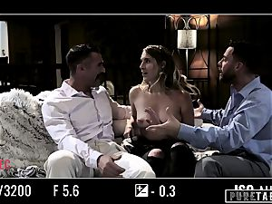 pure TABOO stunner Tricked Into revenge 3some with Strangers
