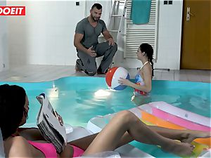 LETSDOEIT - sonny drills StepMom And sis At The Pool