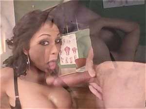 groaning and shrieking Priya Rai popped in the muff by headteacher