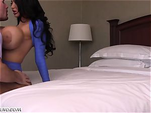 huge-chested slut seduced a married boy in her room