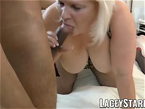 LACEYSTARR - UK grannie gangbanged and gobbling spunk