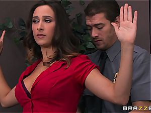 Ashley Adams gets penetrated by 2 cops