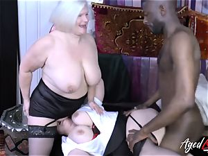 AgedLovE Lacey Starr interracial threeway