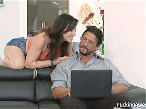 Jennifer milky wants her step-dads schlong