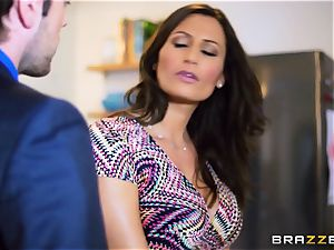 wild wifey voluptuous Jane penetrates her spouses colleague