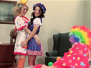 super hot spies Asa Akira and Capri Cavanni clowning around