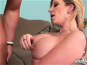 humungous titted light-haired cougar nailed