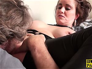 vulva gobbled brit mature fingers her poon