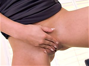 Cherie Deville packs her milf snatch with jewels