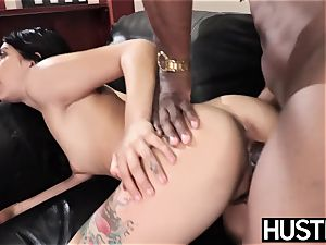 tatted babe Gina Valentina cheats with coochie full of big black cock