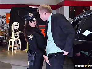 super-hot cop Ava Addams takes advantage of a chance grasp
