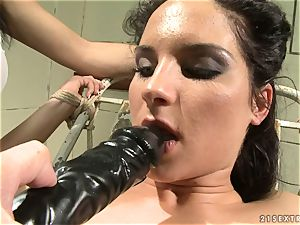 Bettina DiCapri and Mandy Bright dildo blowing